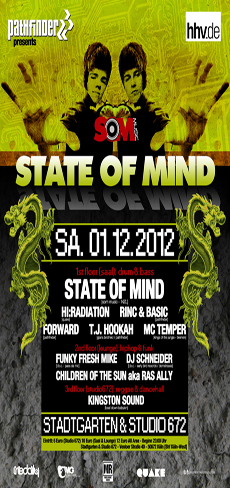 Flyer zum Event 2012-12-01-Pathfinder presents STATE OF MIND (NZL)@ Stadtgarten ALL AREA