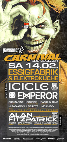 Flyer zum Carnival Soundclash 2015